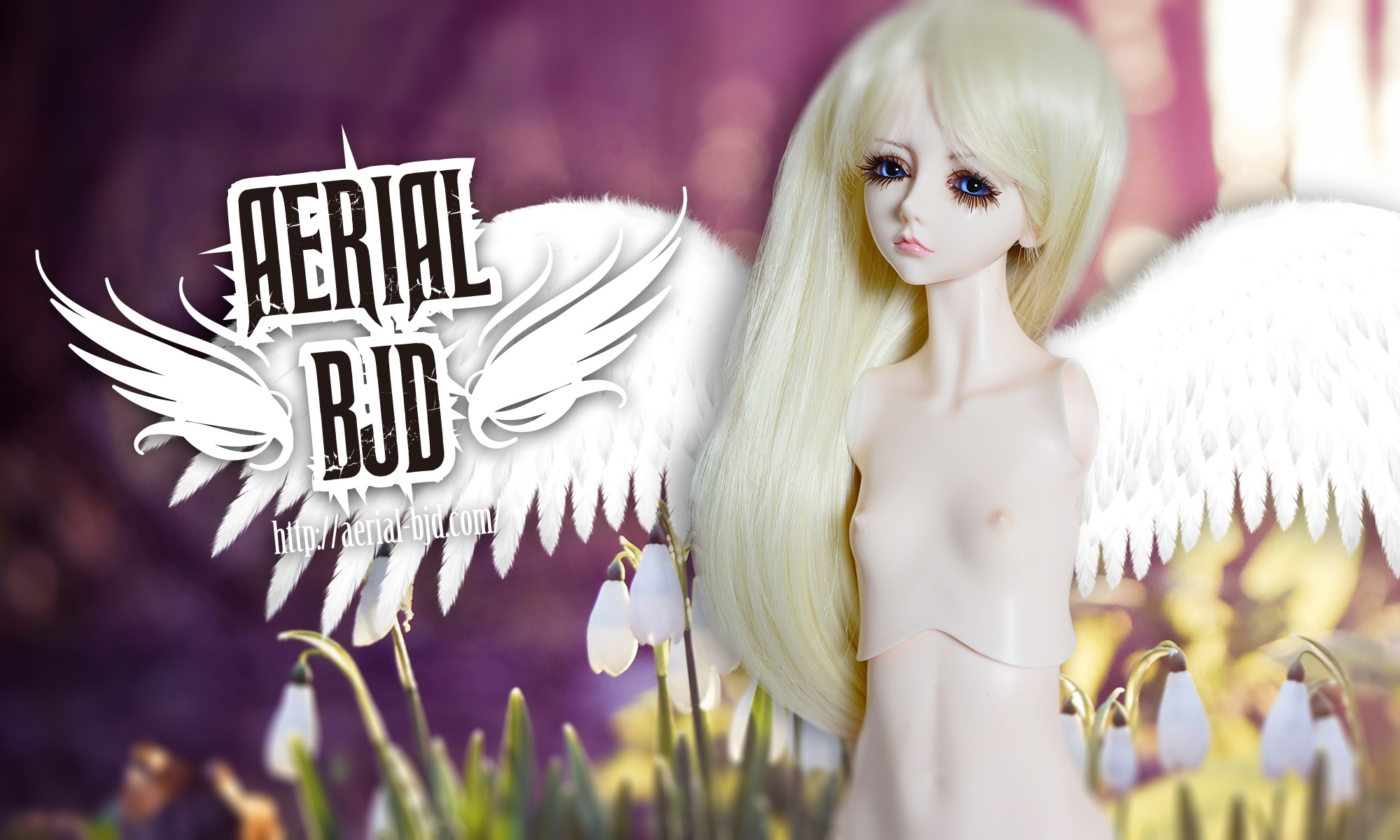 AERIALBJD Eva White Angel Background Image