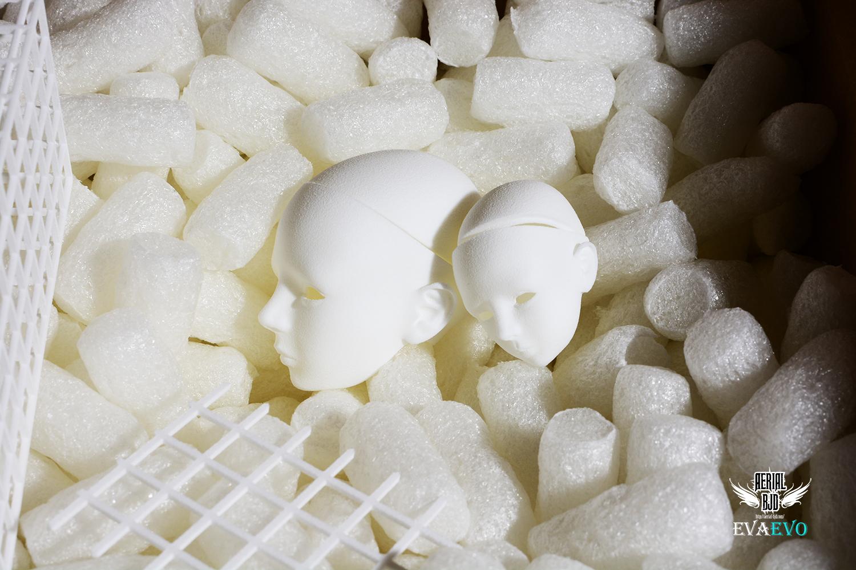 3D Printed EVA Evolution Head Sculpt 1/6, 1/4 Size